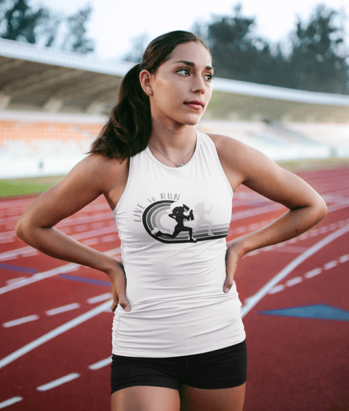 Live to Run Girls Track & Field Running T-Shirt Design