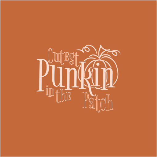 Cute Pumpkin T-Shirt Design Cutest Punkin In The Patch merch ready t-shirt design for fall autumn
