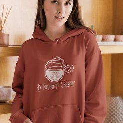 Pumpkin Spice Mug Latte Coffee cup Fall Favorite Season merch ready T-shirt Design mockup Hoodie