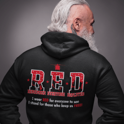 RED Friday Military Remember Everyone Deployed vector t-shirt hoodie print design black
