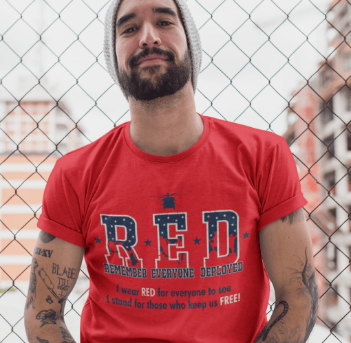 RED Friday Military Remember Everyone Deployed vector t-shirt screen print designs