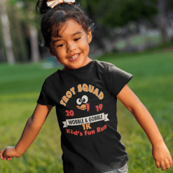 Kids Turkey Trot T-Shirt Template Turkey Trot Squad 1K Kids Thanksgiving Turkey Trot Race T-Shirt Print Design