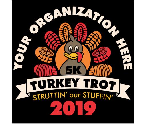 Turkey Trot Thanksgiving 5K Race Design T Shirt Vector Template Free