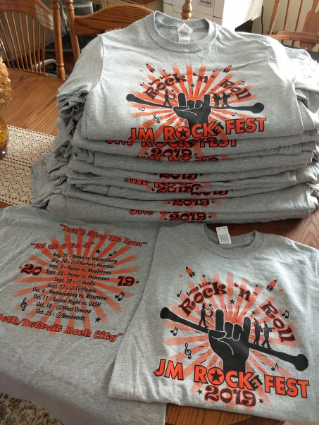 JM Rocket Fest Screen Print T Shirts