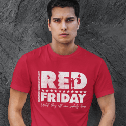 RED Friday Suppor our Military Remember Everyone Deployed stars flag distressed vector t-shirt graphic design