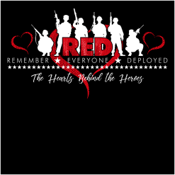RED Friday T Shirts - Hearts Behind The Heroes T Shirt Design