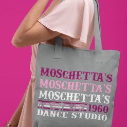 t shirt design template for custom dance studio t-shirts and tote bags