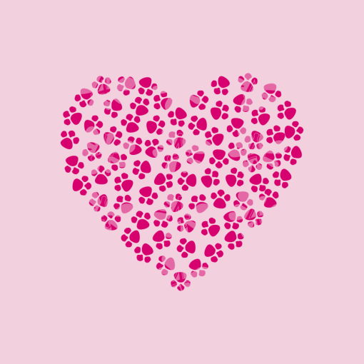 Dog Love T Shirts - Heart of Paws SVG Valentine Design