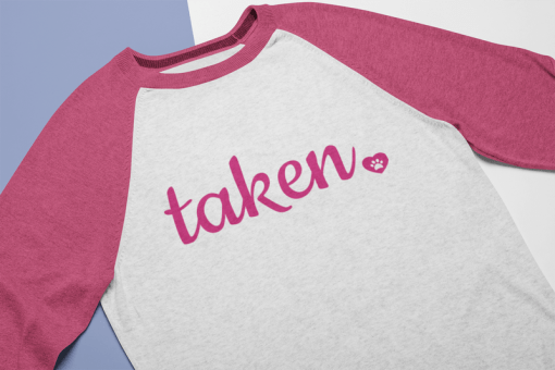 I Love Dog Shirts Valentine t shirt design Taken heart and paw Valentine gift idea