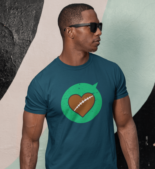 Heart Sports T Shirt Designs Love Football T Shirt Designs | Valentine T Shirts