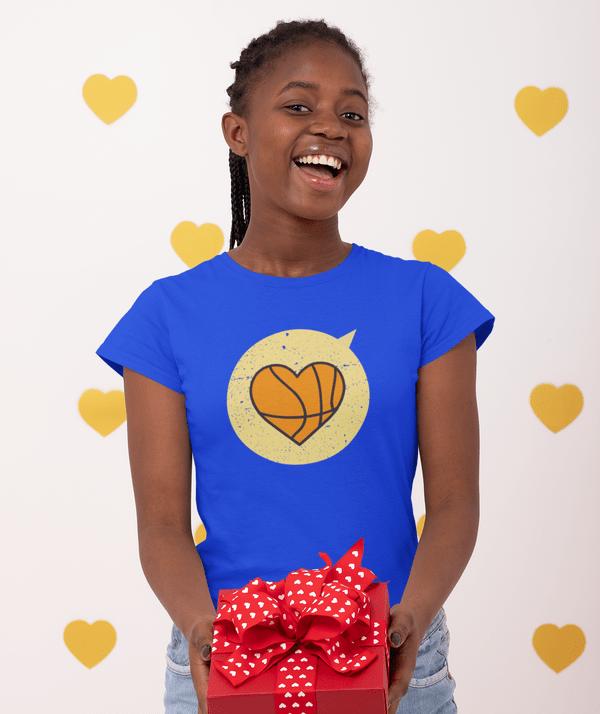 Heart Sports T Shirt Designs Love Basketball T Shirt Designs | Valentine Gift Ideas