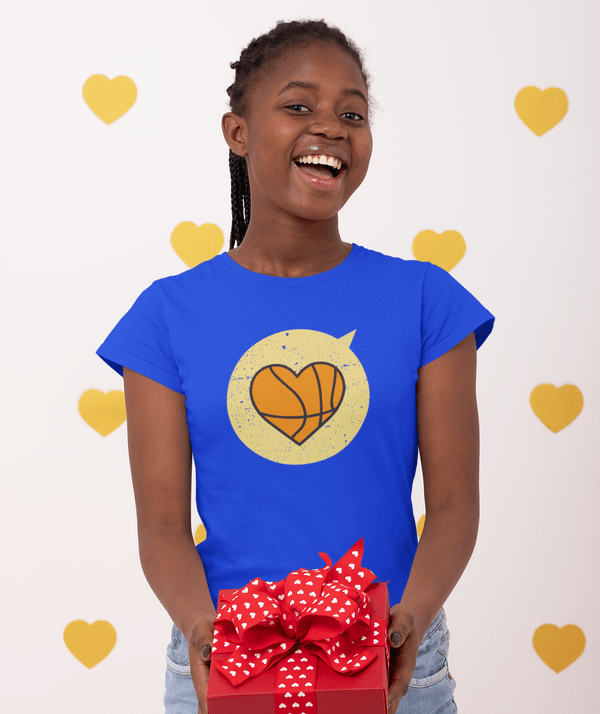 Heart Sports T Shirt Designs Love Basketball T Shirt Designs | Valentine Gift Ideas