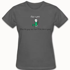 Life Is Good Irish Drinking Shirt Irish Guys & Green Beer T Shirt St Patrick's Day Shirts Design