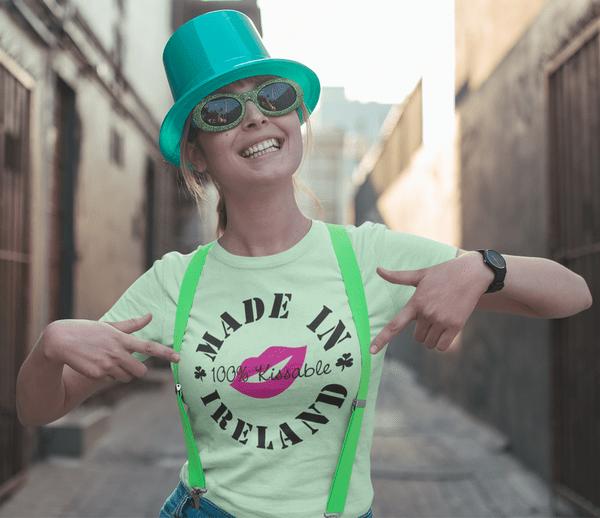 Kiss me I'm Irish T Shirt Made in Ireland T Shirt Design St Patrick's Day Shirt Design