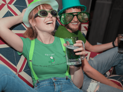 Life Is Good Irish Drinking Shirt Irish Guys & Green Beer T Shirt St Patrick's Day Shirts Design Irish Sayings for Funny St Patty's Day Shirts
