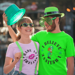 I Believe T Shirt Leprechaun T Shirt St Patrick's Day T Shirts Print Design Irish Sayings for Funny St Patty's Day Shirts