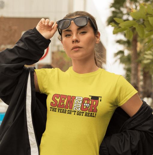 Senior 2020 Pandemic T Shirt Design - Shit Got Real Coronavirus Quarantine Shirt Ready Made Design
