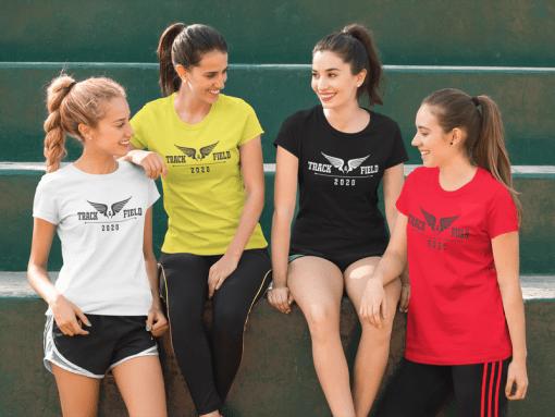 Track T Shirt Design - Track & Field 2020 Running Wings 1
