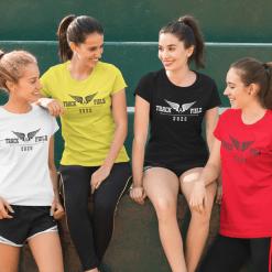 Track T Shirt Design - Track & Field 2020 Running Wings 2