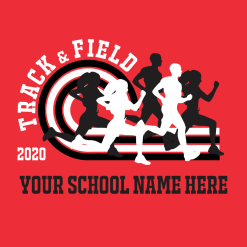 Running Track T Shirts Custom T Shirt Design Template Track & Field 2020