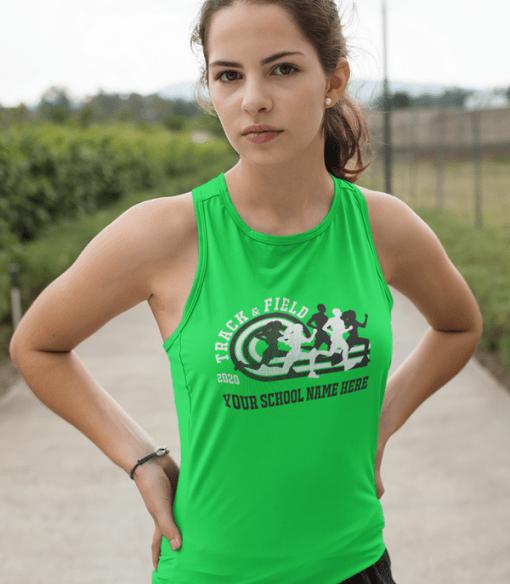 Running Track T Shirts Custom T Shirt Design Template Track & Field 2020
