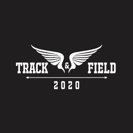 Track t shirt design 2020 track and field wings ready made t shirt print design