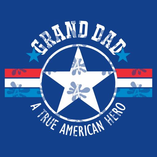 Grandpa T Shirt Design - Grand Dad Gramps - A True American Hero - Father's Day Grandpa SVG
