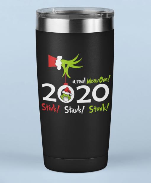 Christmas 2020 Stink Stank Stunk - Funny Grinch Pandemic SVG T Shirt Insulated Travel Mug Design