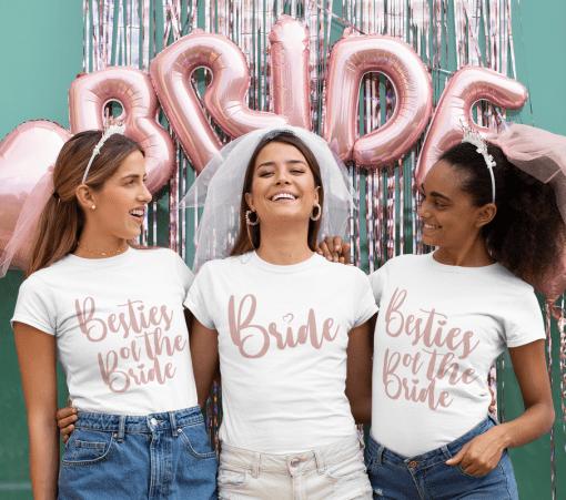 Best Bridal Party Shirts - Wedding Engagement SVG Design Bundle - 14 SVG & PNG Ready-to-Print Designs Bride - Besties of the Bride - Bridesmaids