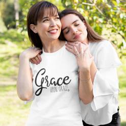 Best Womens Christian T Shirts Faith SVG Design - Grace Upon Grace SVG - Ready-to-Print Design