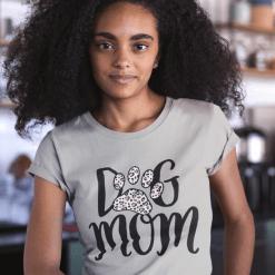 Dog Mom SVG Shirt Design - Leopard Print Heart SVG - Dog Paw Print SVG