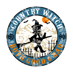 Good & Bad Witch Shirt Design SVG - Country Girl Shirt Halloween Design - Ready-to-Print or Cut T-Shirt Design