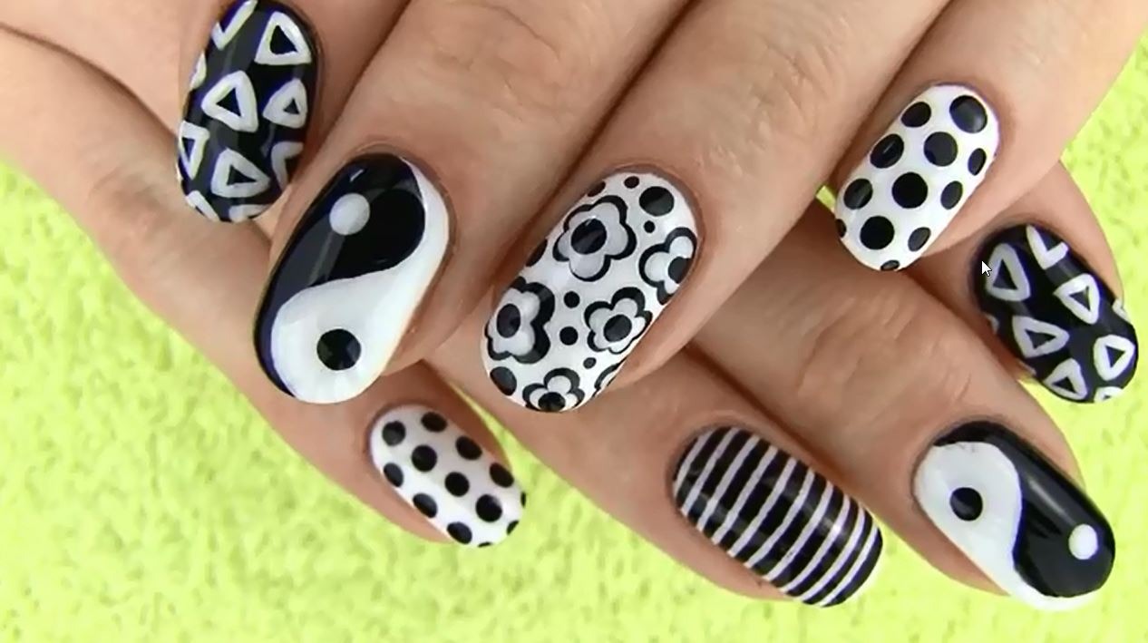 Black and white nail art best videos and pictures when a nail art video gunners 1619027 views within 4 months that is an indication that the particular trend is big and white nail art is a craze prinsesfo Gallery