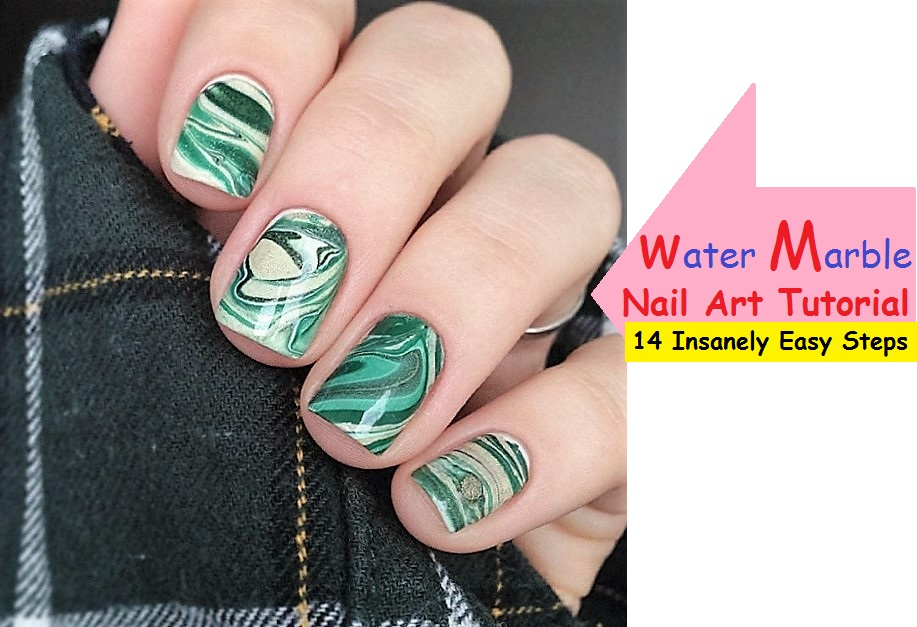 Water Marble Nails art Tutorial [14 INSANELY EASY STEPS]
