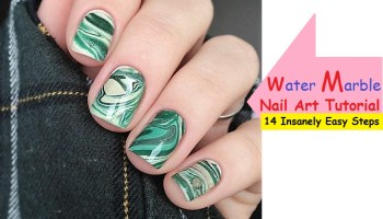 Water Marble Nails Art Tutorial 14 EASY STEPS