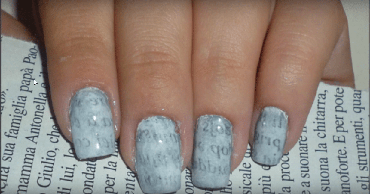 Make NewsPaper Print Nail Art Designs Perfectly [9 Easy Steps Tutorial]
