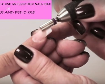 How To Use An Electric Nail File Machine In Manicure And Pedicure THE PROPER WAY