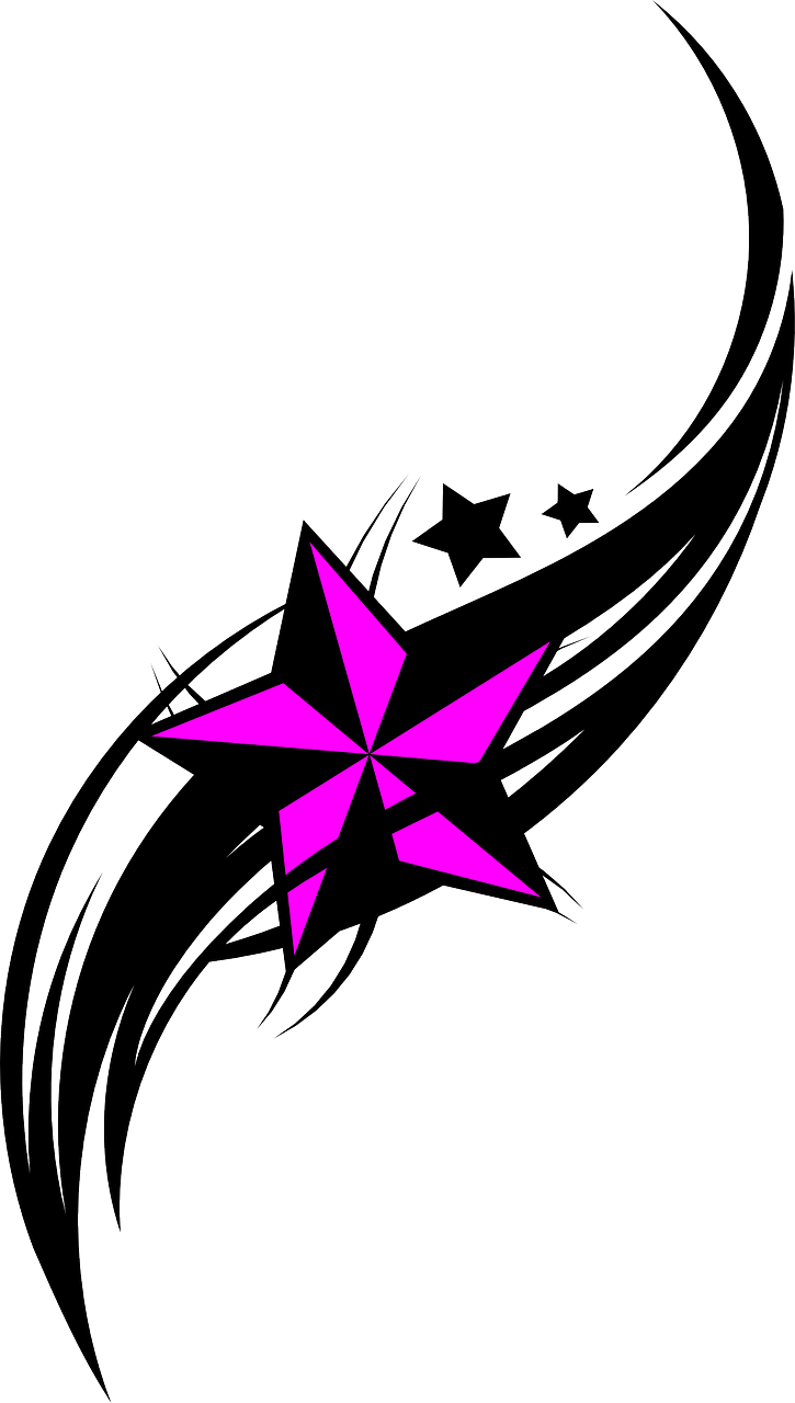 purple star with design