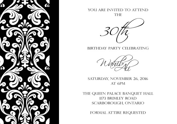 Invitations & Programs