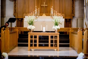 Wedding Ceremony Alter Flowers