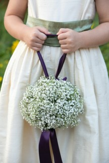 flower girl white green