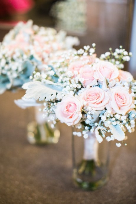 Bridesmaid bouquet in pink and white
