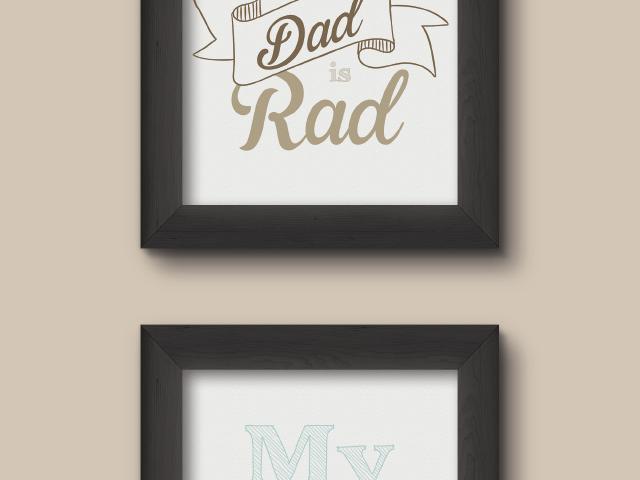 Rad Father's Day Prints