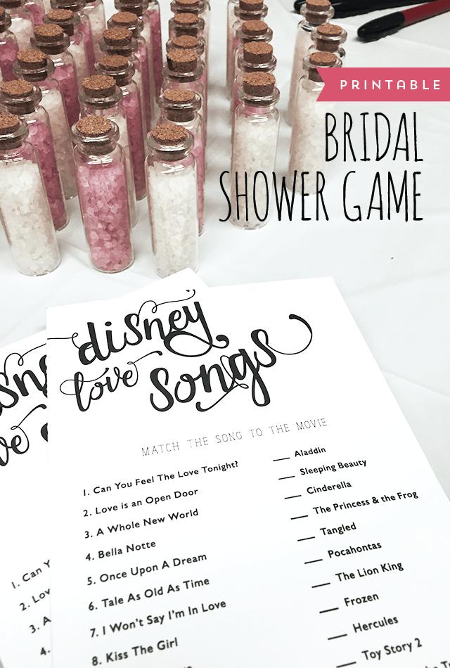 Bridal Shower Game download Blue Bridal Shower Game Disney Love Songs Bridal Shower Game Wedding Game Bridal Shower Instant Download