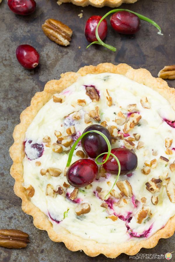 Cranberry Gorgonozola Tart