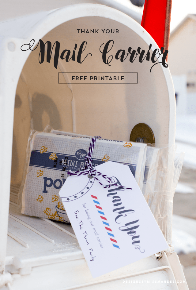 Thank Your Mail Carrier Free Printable Designs By Miss