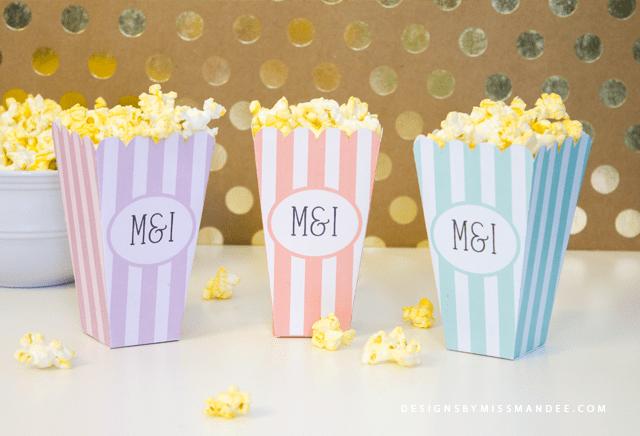 Customizable Popcorn Boxes