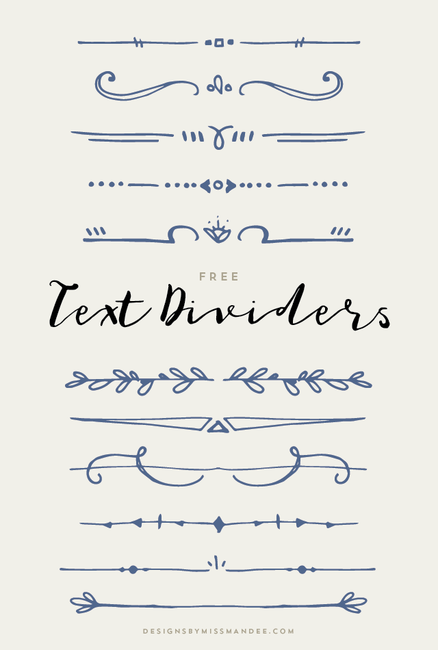 Text Dividers Designs By Miss Mandee