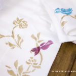 DIY Stenciled Burp Cloths