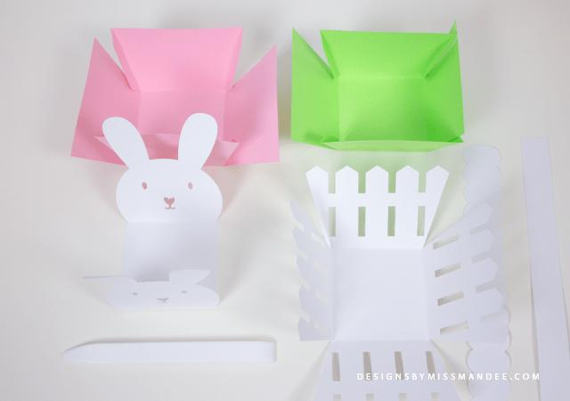 Die Cut Easter Baskets